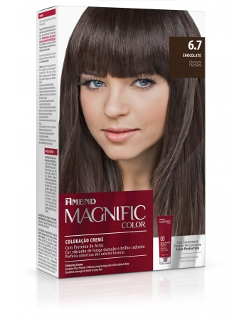COLORACAO KIT MAGNIFIC - 6.7 CHOCOLATE REF 725
