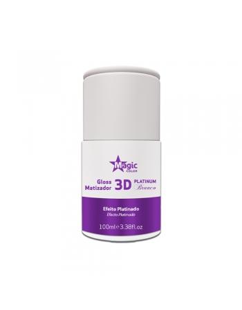 GLOSS CAPILAR MATIZADOR 3D PLATINUM BRANCO 100ML