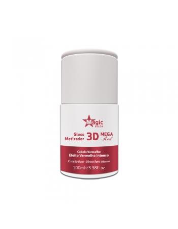 GLOSS CAPILAR MATIZADOR 3D MEGA RED EFEITO VERMELHO INTENSO 100 ML