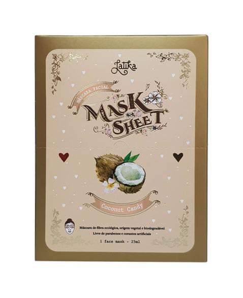MASK SHEET LATIKA COCONUT CANDY BOX 10 UNID