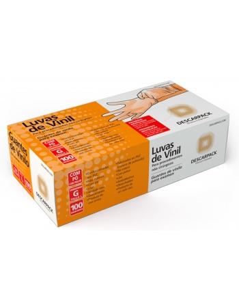 LUVA VINIL COM PO P 50 PARES REF 540101